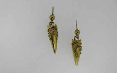 A pair of Victorian embellished drop earpendants,