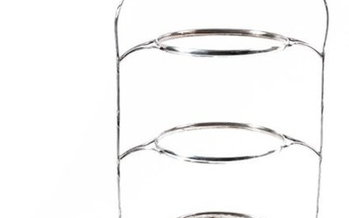 A silver plated plate holder
