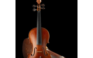 A violin by Romeo Antoniazzi, Milan 1915 ca. Two-pieces back...