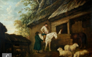 ATTRIBUTED TO GEORGE MORLAND (1763-1804) - Rustic figures wi...