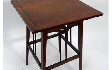 ATTRIBUTED TO SYDNEY BARNSLEY, ARTS AND CRAFTS LINE INLAID O...