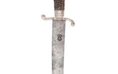 An English Silver-Mounted Hunting Hanger, Late 17th Century, Silver Maker's Mark WL, A Pellet Above And Below