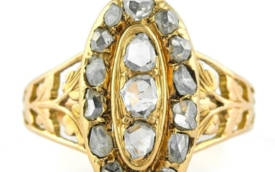 Authentic Early-Mid 19th Century - 18 kt. Yellow gold - Ring Diamond