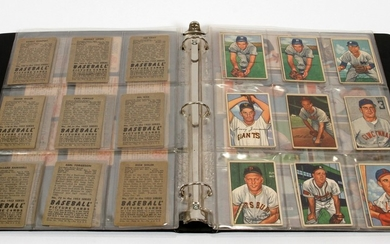 BOWMAN GUM CO. BASEBALL TRADING CARDS C1950 S 65CARDS