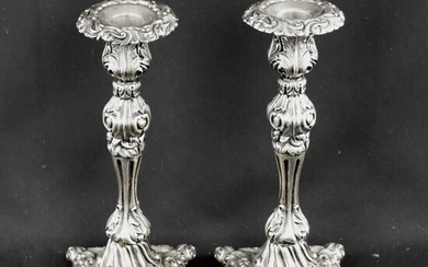 Candlestick (2) - .833 silver - Portugal - Mid 19th century
