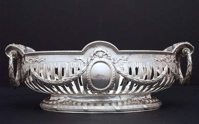 Centerpiece, Large Center Table- .800 silver - Germany - Late 19th century