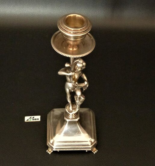 Chamberstick (1) - .800 silver - Italy - Late 20th century