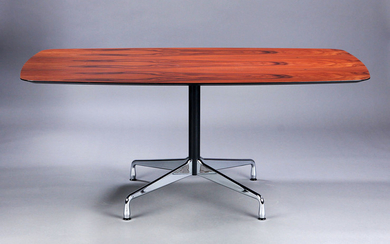 Charles Eames. A table with a table top veneered with Santos rosewood, model 'Segmented table'. L. 170 cm.