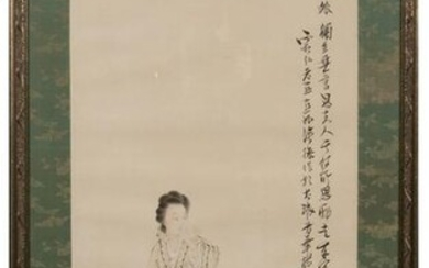 Chinese Painting of Court Lady by Xu Cao