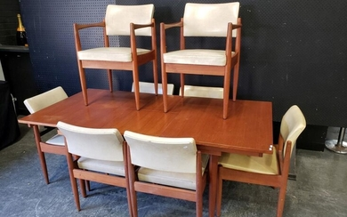 Chiswell 9 Piece Dining Suite inc Extension Table and 8 Leather Upholstered Chairs (h:73 x w:138 x d:89cm)