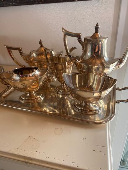 Coffee and tea service (5) - .925 silver - Gorham - U.S. - First half 20th century