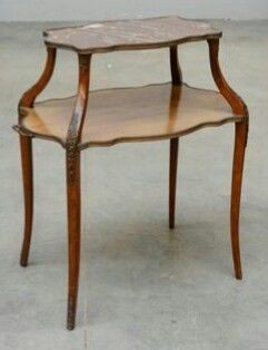 Coffee table, Étagère - Napoleon III Style - Wood - Late 19th century