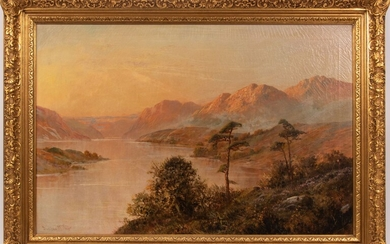 """DUNCAN MCNAIR (BRITISH, EARLY 20TH C), OIL ON CANVAS, H 20"""", W 30"""", HIGHLANDS LANDSCAPE"""