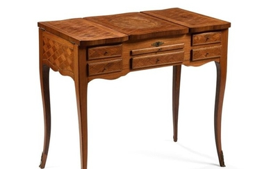 Dressing table in veneer and marquetry of exotic...