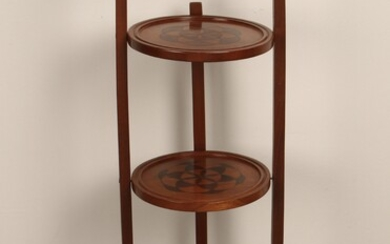 ENGLISH ROUND THREE TIER SIDE TABLE MUFFIN STAND
