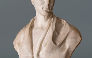 """ENGLISH SCHOOL, FIRST FOURTH S. XIX """"Bust of..."""