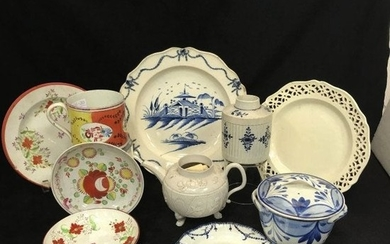 English 18th Century Pottery Articles Including