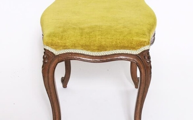 French Louis XV Manner Carved Footstool