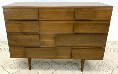 GIO PONTI Four Drawer Dresser Chest. Singer and Sons.