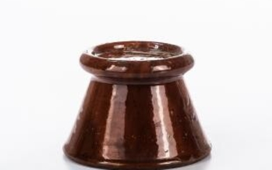 Glazed Redware Lamp Stand