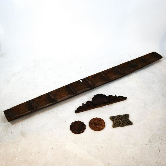 Group of Five Asian/Ethnic Wood Objects
