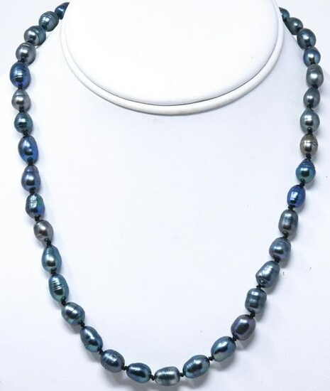 Hand Knotted Tahitian Baroque Pearl Necklace