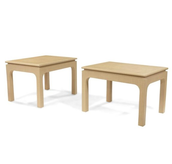 Karl Springer Style Tables - Pair
