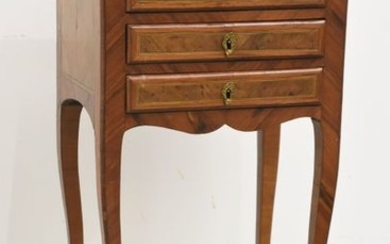 Louis XVI period marquetry chest of drawers with...