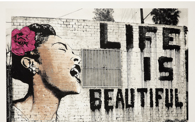 MR BRAINWASH (né en 1966) BILLIE IS BEAUTIFUL,...
