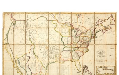 Map of the United States with the contiguous British...