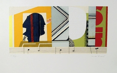 Max Papart, Melodie, Lithograph with Embossing