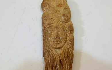 NATIVE AMERICAN CARVED STONE PENDANT