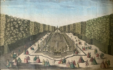 Painted Etching Gardens of Versailles