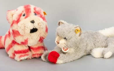 Pair of Steiff Cats. Including Kitty limited edition