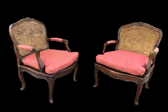 Pair of armchairs (2) - Louis XV - Wood - Late 19th century