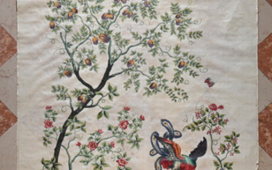 Pair of painted blinds, decoration inspired by China, circa 1830-1850