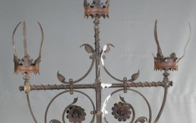 Pair of standing candelabra wrought iron