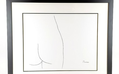 """Picasso Nude """"Femme"""" Lithograph on Acrylic Paper Framed"""