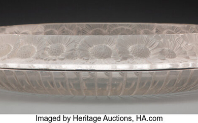 R. Lalique Clear and Frosted Glass Marguerites Bowl (circa 1933)