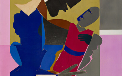ROMARE BEARDEN (1911 1988) Woman and Child