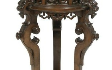 Renaissance Revival-Style Hardwood Fern Stand