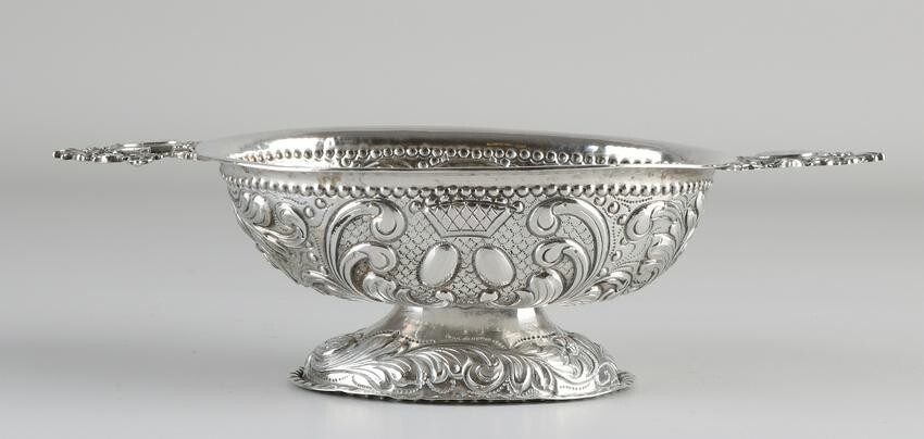 Silver brandy bowl, 934/000, decorated with gear and