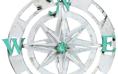 Three Dimensional Wall Hanging Compass with Rotating
