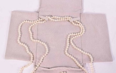 Tiffany Iridescence Cultured Pearl Rope Necklace