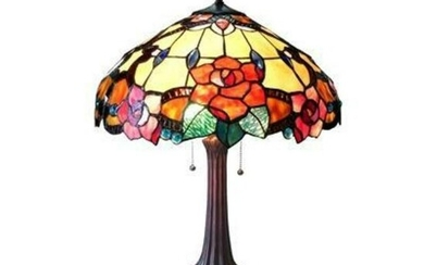 Tiffany-style Stained Glass Floral Table Lamp