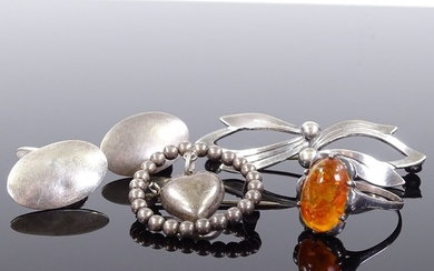 Various silver jewellery, comprising N.E. From Danish sterli...