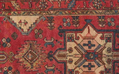Vintage Hamadan Colletion Hand-Knotted Wool Runner- 3'