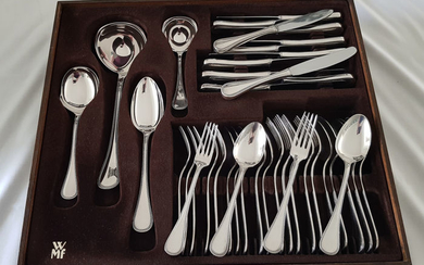 WMF - Silver plated cutlery with Pearl edge - 6 persons / 40 pieces - Silver plated