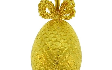 Yellow Gold Egg PENDANT Charm, French 1980s