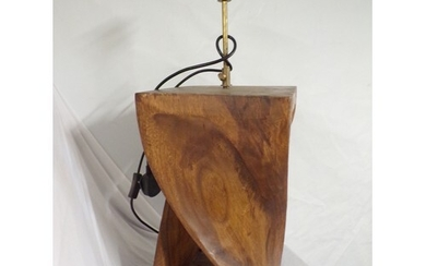 "heavy carved lamp stands 20"" high 10"" across"